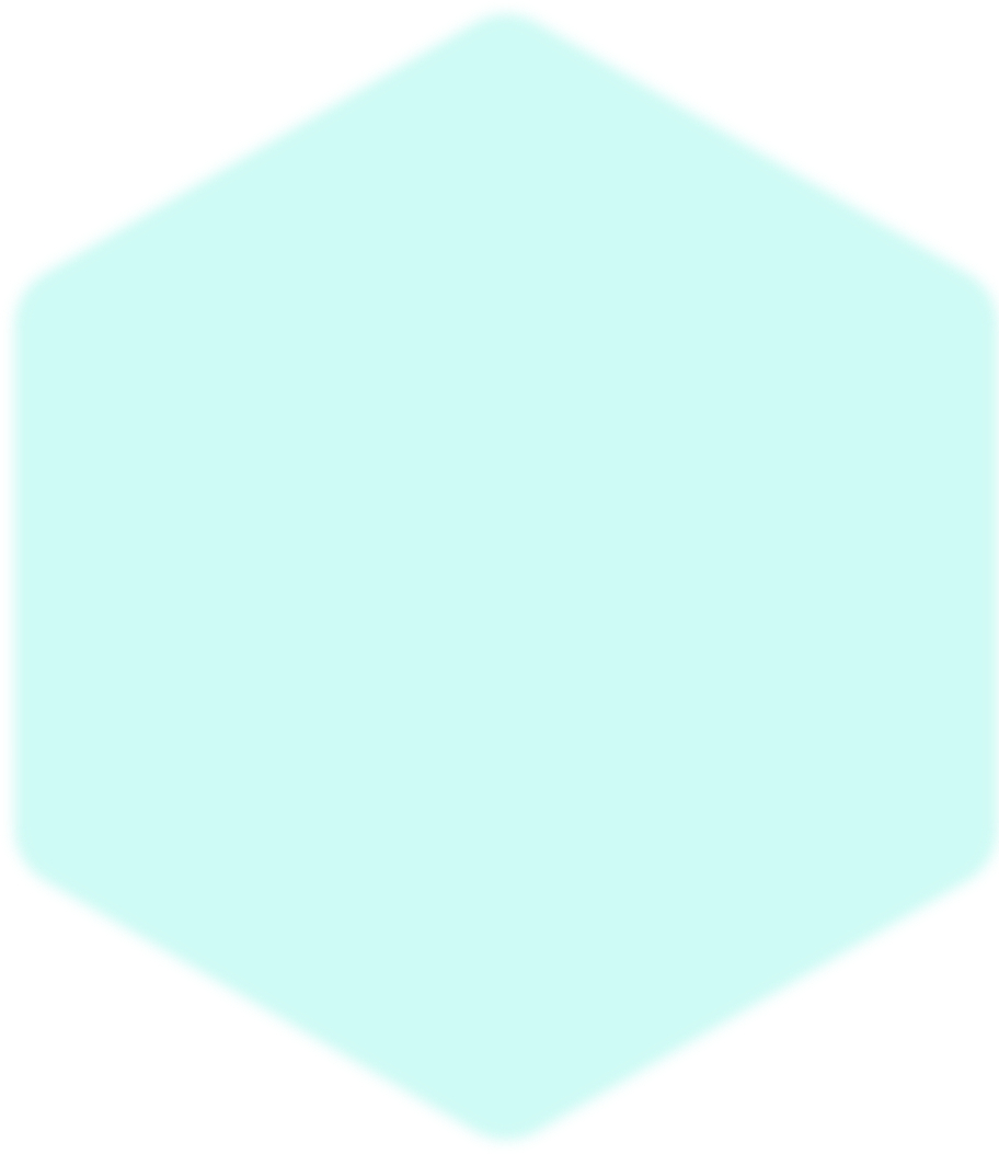 background overlay of a lite green hexagon